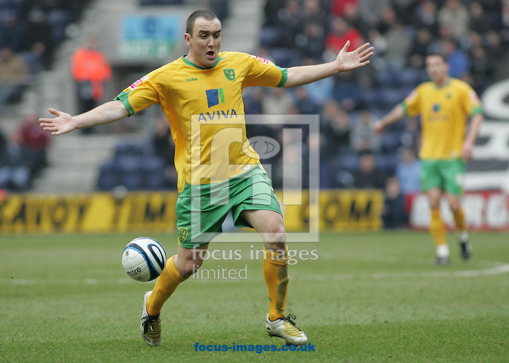 Preston - Saturday February 14th, 2009: Lee Croft of Norwich City appeals against the refs decision during the Coca Cola Championship match against Preston North End at Deepdale, Preston. (Pic by Michael Sedgwick/Focus Images)