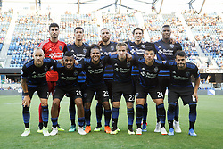 July 28, 2018 - San Jose, California, United States - San Jose, CA - Saturday July 28, 2018: San Jose Earthquakes Starting Eleven during a Major League Soccer (MLS) match between the San Jose Earthquakes and Real Salt Lake at Avaya Stadium. (Credit Image: © Andrew Villa/ISIPhotos via ZUMA Wire)