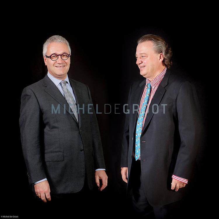 Roderick Munsters, directeur van Robeco samen met Gilbert van Hassel, ING Investment Management
