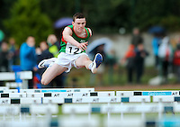 20 Aug 2016: Iarlaith Golding, from Mayo, on his way to winning Boys U14 Hurdles heat.  2016 Community Games National Festival 2016.  Athlone Institute of Technology, Athlone, Co. Westmeath. Picture: Caroline Quinn