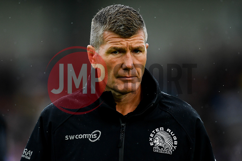 Rob Baxter prior to kick off - Mandatory by-line: Ryan Hiscott/JMP - 21/09/2019 - RUGBY - Sandy Park - Exeter, England - Exeter Chiefs v Bath Rugby - Premiership Rugby Cup