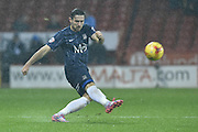 Southend United defender Ryan Leonard takes free kick during the Sky Bet League 1 match between Sheffield Utd and Southend United at Bramall Lane, Sheffield, England on 14 November 2015. Photo by Ian Lyall.