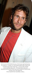 MR DAVID DE ROTHSCHILD son of Sir Evelyn de Rothschild, at a party in London on 22nd September 2003.PMW 228