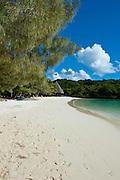 White sand beach, Bay de Kanumera, Ile des Pins, New Caledonia, Melanesia, South Pacific