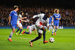 PSG Midfielder Blaise Matuidi (FRA) in action - Photo mandatory by-line: Rogan Thomson/JMP - 07966 386802 - 08/04/2014 - SPORT - FOOTBALL - Stamford Bridge, London - Chelsea v Paris Saint-Germain - UEFA Champions League Quarter-Final Second Leg.