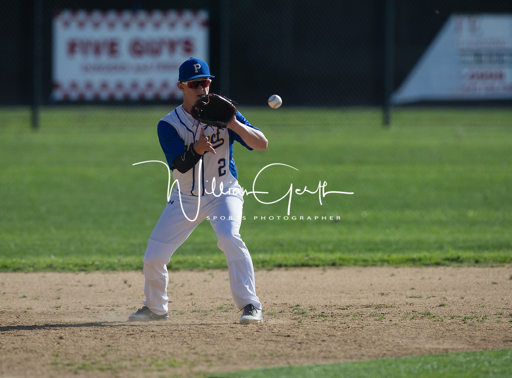 (Photograph by Bill Gerth/SVCN/ 4/21/17) Live Oak vs Prospect in a BVAL Baseball Game at Prospect High School, Saratoga CA on 4/21/17