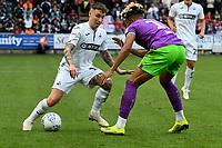 Football - 2018 / 2019 Sky Bet EFL Championship - Swansea City vs. Bristol City<br /> <br /> Barrie McKay of Swansea City attacks Lloyd Kelly of Britol City , at Liberty Stadium.<br /> <br /> COLORSPORT/WINSTON BYNORTH