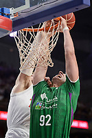 Real Madrid's Andres Nocioni and Unicaja Malaga's Alen Omic during semi finals of playoff Liga Endesa match between Real Madrid and Unicaja Malaga at Wizink Center in Madrid, May 31, 2017. Spain.<br /> (ALTERPHOTOS/BorjaB.Hojas)