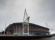 A general view of Principality Stadium, home of Wales<br /> <br /> Photographer Simon King/Replay Images<br /> <br /> Six Nations Round 5 - Wales v Ireland - Saturday 16th March 2019 - Principality Stadium - Cardiff<br /> <br /> World Copyright © Replay Images . All rights reserved. info@replayimages.co.uk - http://replayimages.co.uk