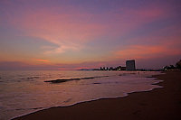 The beautiful early evening sky at the beaches of Puerto Vallarta Mexico.