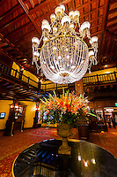A chandelier in the lobby of the Hotel del Coronado, Coronado Island (San Diego), California USA.