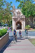 Women, 20's, Riding Bikes, Balboa Park, San Diego, Ca