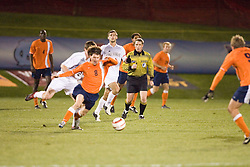Virginia Cavaliers MF/F Nico Colaluca (8).  The Virginia Cavaliers Men's Soccer Team lost to the Wake Forest Demon Decons in penalty kicks in the semifinal round of the 2006 ACC Tournament on November 3, 2006 at the Maryland Soccerplex in Germantown, MD.