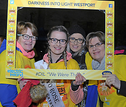 Mayo Rose Rachel Gibbons with Bernie and Charlene Gibbons and Ann Golden enjoying Pieta House Darkness Into Light Walk in Westport on saturday morning last.<br />