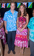 """CATHERINE, DUCHESS OF CAMBRIDGE AND PRINCE WILLIAM.William and Kate attended a reception and dinner hosted by the Governor General at his residence.The couple wore Island Print design shirt and dress respctively_16/09/2012.Mandatory credit photo: ©Rooke/DIASIMAGES..""""NO UK USE FOR 28 DAYS"""" ..(Failure to credit will incur a surcharge of 100% of reproduction fees)..                **ALL FEES PAYABLE TO: """"NEWSPIX INTERNATIONAL""""**..IMMEDIATE CONFIRMATION OF USAGE REQUIRED:.DiasImages, 31a Chinnery Hill, Bishop's Stortford, ENGLAND CM23 3PS.Tel:+441279 324672  ; Fax: +441279656877.Mobile:  07775681153.e-mail: info@newspixinternational.co.uk"""