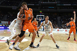 December 19, 2017 - Madrid, Madrid, Spain - Tibor Pleiss (second left), #21 of Valencia in action during the 2017/2018 Turkish Airlines EuroLeague Regular Season Round 13 game between Real Madrid and Valencia Basket at WiZink center in Madrid. (Credit Image: © Jorge Sanz/Pacific Press via ZUMA Wire)