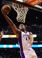 Nov. 09, 2012; Phoenix, AZ, USA; Phoenix Suns forward P.J Tucker (17) lays up the ball against the Cleveland Cavaliers during the second half at US Airways Center. The Suns defeated the Cavaliers 107-105. Mandatory Credit: Jennifer Stewart-US PRESSWIRE