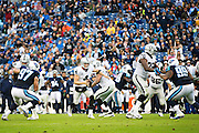 NASHVILLE, TN - NOVEMBER 29:  Derek Carr #4 of the Oakland Raiders runs the ball during a game against the Tennessee Titans at Nissan Stadium on November 29, 2015 in Nashville, Tennessee.  The Raiders defeated the Titans 24-21.  (Photo by Wesley Hitt/Getty Images) *** Local Caption *** Derek Carr