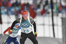 February 11, 2018 - Pyeongchang, GANGWON, SOUTH KOREA - Feb 10, 2018-Pyeongchang, South Korea-Laura DAHLMEIER of Germany action on the snow during an Olympic Biathlon Women Sprint 7.5Km at Biathlon Center in Pyeongchang, South Korea. (Credit Image: © Gmc via ZUMA Wire)