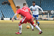 Bury Midfielder, Rohan Ince (30)  during the EFL Sky Bet League 1 match between Bury and Gillingham at the JD Stadium, Bury, England on 24 February 2018. Picture by Mark Pollitt.