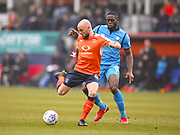 Luton Town player Alan McCormick steals the ball in the first half during the EFL Sky Bet League 2 match between Luton Town and Barnet at Kenilworth Road, Luton, England on 24 March 2018. Picture by Ian  Muir.