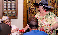 "Sue Judin (right) during Mayhem & Mystery's production of ""Costume Carousing"" at the Spaghetti Warehouse in downtown Dayton, Monday, September 12, 2011."