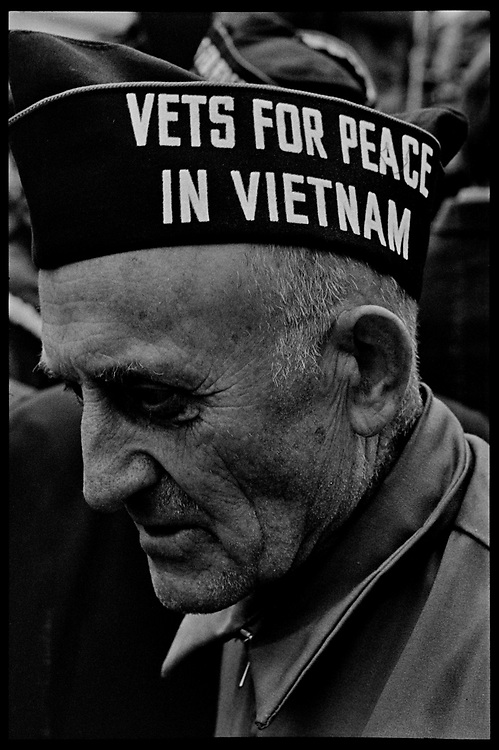 Madison, WI – May, 1970. Protesters against the war in Vietnam on the steps of the Capitol, led byVeterans for Peace in Vietnam. On May 1, 1970, there was a general student strike in response to the news that the U.S. had expanded bombing into Cambodia. There was a march against the war, led by Veterans for Peace in Vietnam; and after the May 4 shootings at Kent State University in Ohio, there were more protests at UW Madison, which led to the police being called in, and teargassing demonstrators in the streets and on campus. Veterans on the steps of the State Capitol.