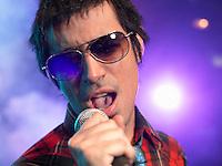 Rock Singer Performing on Stage
