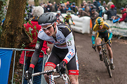 David van der Poel (NED) of BKCP-Powerplus, Men Elite, Cyclo-cross World Cup Hoogerheide, The Netherlands, 25 January 2015, Photo by Pim Nijland / PelotonPhotos.com