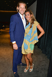 The UK Premier of Johnnie Walker Blue Label's 'Gentleman's Wager' - a short film starring Jude Law was held at The Bulgari Hotel & Residences, 171 Knightsbridge, London on 22nd July 2014.<br /> Picture Shows:-JAKE & SAMIRA PARKINSON-SMITH.