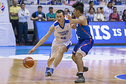 November 27, 2017 - Cubao, Quezon City, Philippines - Kai-Yan Lee of Chinese Taipei defended by Kiefer Ravena of Gilas Pilipinas.Gilas Pilipinas defended their home against Chinese Taipei. Game ended at 90 - 83. (Credit Image: © Noel Jose Tonido/Pacific Press via ZUMA Wire)