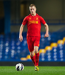 LONDON, ENGLAND - Friday, April 19, 2013: Liverpool's Dan Cleary in action against Chelsea during the FA Youth Cup Semi-Final 2nd Leg match at Stamford Bridge. (Pic by David Rawcliffe/Propaganda)