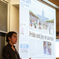 "Camila Bernal, ""Summer in the City: A Photojournalist Experience,"" LEAP Symposium, Mount Holyoke College, 10/18/2013"