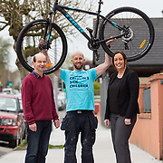 06.04.2017        <br /> Pictured the Bike Shop, O'Connel Avenue were, Joe O'Carroll, The Bike Shop, Roger Cusack, The Maldron Hotel and Valerie O'Neill, GM Maldron Hotel. Picture: Alan Place.