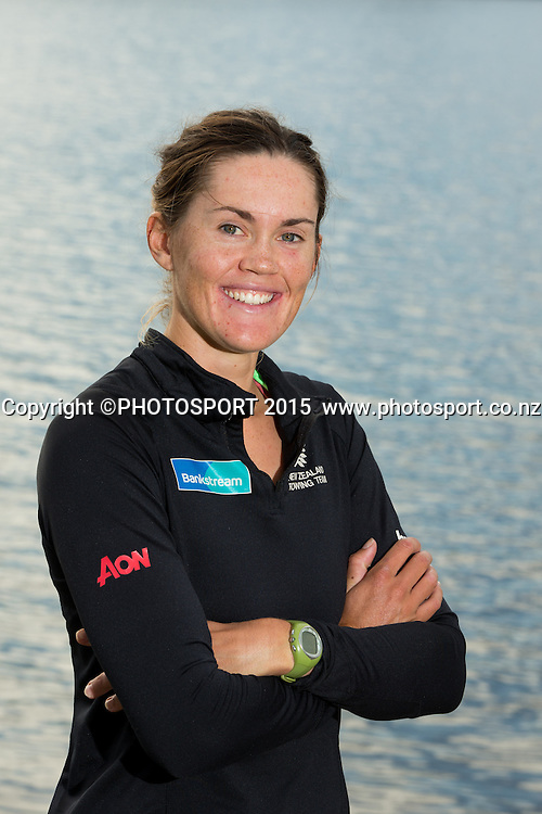 Women's Single Scull Fiona Bourke at the Rowing NZ Media Day, Lake Karapiro, Cambridge, New Zealand, Wednesday 6 May 2015. Photo: Stephen Barker/Photosport.co.nz