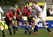 Twickenham. England, Women's International Rugby England v Spain, at the Twickenham Stoop. on 09/03/2003. Nicki JUPP,  running with the ball. [Mandatory Credit: Peter Spurrier/ Intersport Images]