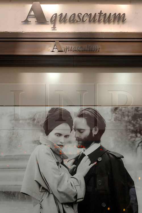 © Licensed to London News Pictures. 08/09/2009. London, UK. Clothing retailer Aquascutum has gone into administration putting at risk 250 jobs. FILE PICTURE DATED 08/09/09 The Aquascutum store in Regent Street, London . Photo credit : Stephen Simpson/LNP