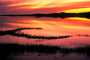 Image of a dramatic sunset on Cape Cod, Massachusetts, New England