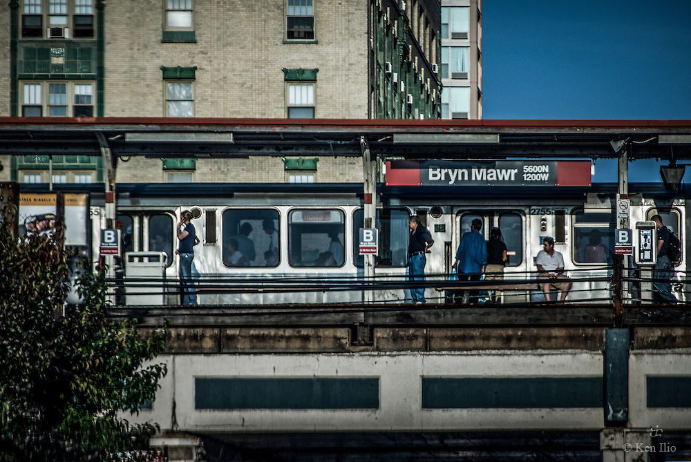 The Red Line El Stop on Bryn Mawr in Chicago's far northside