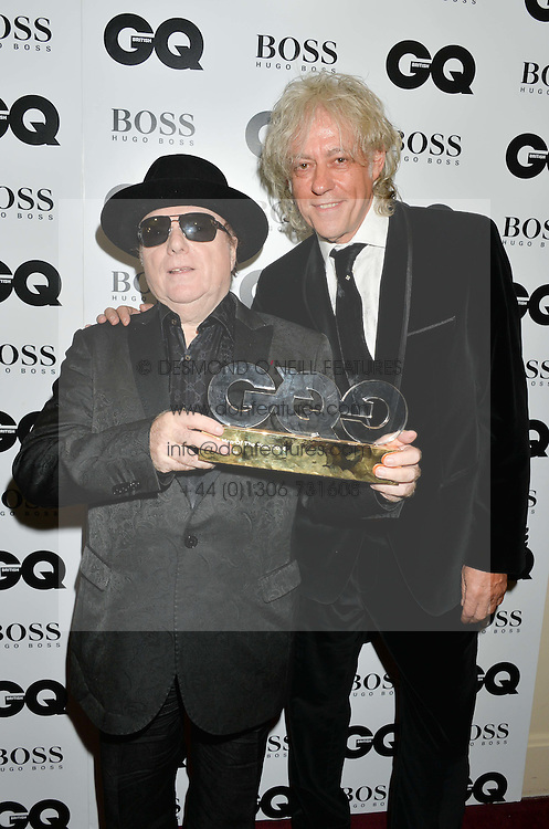 Left to right, VAN MORRISON winner of the Legend Award and BOB GELDOF at the GQ Men Of The Year 2014 Awards in association with Hugo Boss held at The Royal Opera House, London on 2nd September 2014.