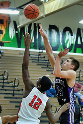 27 December 2018: Aurora Christian Eagles v Rockford Lutheran Crusaders. State Farm Holiday Classic Coed Basketball Tournament at Normal West High School in Normal Illinois