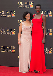 Sheila Atim (right) arriving for The Olivier Awards at the Royal Albert Hall in London.