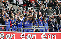 Photo: Lee Earle.<br /> Chelsea v Manchester United. The FA Cup Final. 19/05/2007.Chelsea players celebrate winning the FA cup.