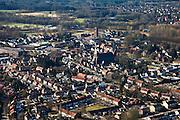 Nederland, Noord-Brabant, Sint-Michielsgestel, 07-03-2010;   .overzicht dorp met Michaelskerk.luchtfoto (toeslag), aerial photo (additional fee required).foto/photo Siebe Swart