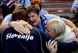 Sergeja Stefanisin at Women European Championships Qualifying handball match between National Teams of Slovenia and Belarus, on October 17, 2009, in Kodeljevo, Ljubljana.  (Photo by Vid Ponikvar / Sportida)
