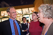 20 OCTOBER 2010 - TEMPE, AZ: Terry Goddard (CQ) talks to Carrie Robbins (CQ) and State Sen Meg Burton Cahill (CQ) after a gubernatorial candidate forum on the Arizona State University campus in Tempe, Oct 20. Goddard lost the election to sitting Governor Jan Brewer, a conservative Republican.     PHOTO BY JACK KURTZ