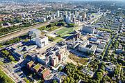 Nederland, Noord-Holland, Amsterdam, 27-09-2015; Zuid-as, overzicht campus van de Vrije Universiteit (VU) rond Amstelveenseweg en De Boelenlaan. VUmc Cancer Center, ACTA (tandheelkunde), Academisch Ziekenhuis Vrije Universiteit VUmc.<br /> Zuid-as, 'South axis', financial center in the South of Amsterdam, with University Hospital VUmc (Vrije Universiteit) and VU MC Cancer Center. Amsterdam equivalent of 'the City', financial district. <br /> <br /> luchtfoto (toeslag op standard tarieven);<br /> aerial photo (additional fee required);<br /> copyright foto/photo Siebe Swart