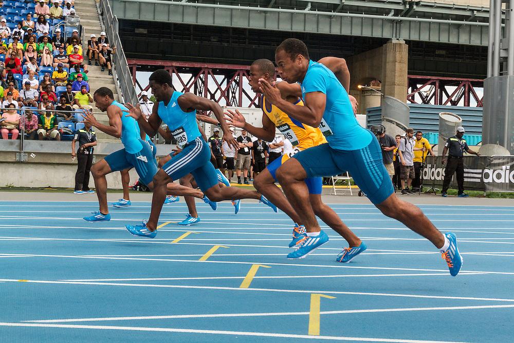 High School Boys Dream 100 meter dash, adidas Grand Prix Diamond League track and field meet