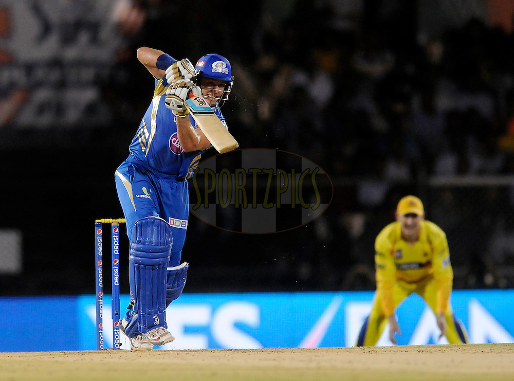 Michael Hussey of the Mumbai Indians bats during the eliminator match of the Pepsi Indian Premier League Season 2014 between the Chennai Superkings and the Mumbai Indians held at the Brabourne Stadium, Mumbai, India on the 28th May  2014<br /> <br /> Photo by Pal PIllai / IPL / SPORTZPICS<br /> <br /> <br /> <br /> Image use subject to terms and conditions which can be found here:  http://sportzpics.photoshelter.com/gallery/Pepsi-IPL-Image-terms-and-conditions/G00004VW1IVJ.gB0/C0000TScjhBM6ikg