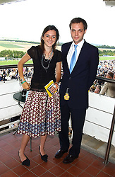 VIOLET ELLIOT and the HON.ED SACKVILLE at the 4th day of the 2005 Glorious Goodwood horseracing festival at Goodwood Racecourse, West Sussex on 29th July 2005.    <br /><br />NON EXCLUSIVE - WORLD RIGHTS